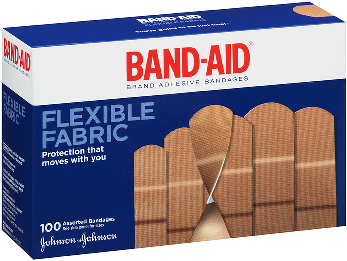 BAND-AID Flexible Fabric Adhesive Bandages Assorted - 100 EA