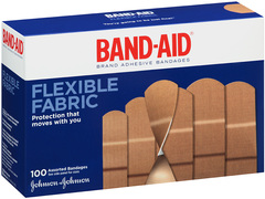 BAND-AID Flexible Fabric Adhesive Bandages Assorted - 100 EA