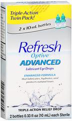 REFRESH Optive Advanced Lubricant Eye Drops - 1 EA