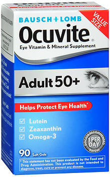 Bausch + Lomb Ocuvite Adult 50+ Eye Vitamin & Mineral Supplement Softgels - 90 EA