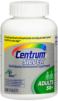 Centrum Silver Adults 50+ Multivitamin/Multimineral Supplement Tablets - 220 CAP
