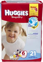 HUGGIES Snug & Dry Diapers Size 6 - 21 EA