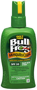BullFrog Mosquito Coast Sunscreen with Insect Repellent Spray SPF 30 - 6 OZ