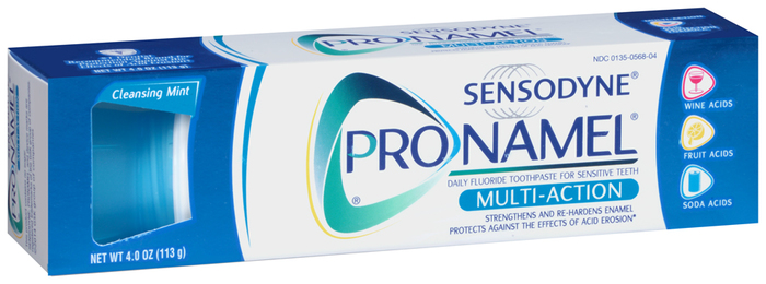 Sensodyne Pronamel Multi-Action Fluoride Toothpaste Cleansing Mint - 4 OZ