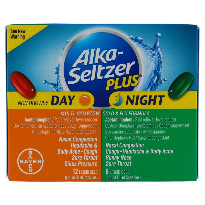 Alka-Seltzer Plus Day & Night Multi-Symptom & Cold & Flu Formula Liquid Gels - 20 CAP
