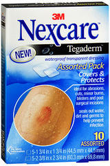 3M Nexcare Tegaderm Waterproof Transparent Dressing Assorted Pack - 10 EA