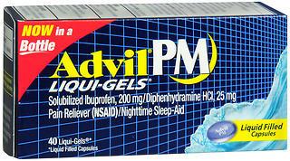 Advil PM Pain Reliever/Nighttime Sleep-Aid Liqui-Gels - 40 CAP