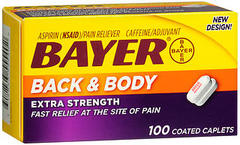 Bayer Back & Body Coated Caplets - 100 TAB