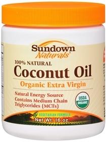 Sundown Naturals Coconut Oil - 80 EA