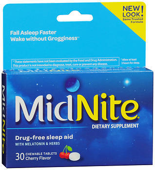 MidNite Dietary Supplement Chewable Tablets Cherry - 30 TAB