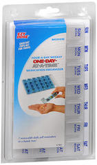 Ezy Dose One-Day-At-A-Time Medication Organizer 67405 - 6 EA