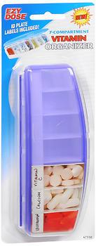 Ezy Dose 7-Compartment Vitamin Organizer 67150 - 6 EA