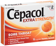 Cepacol Extra Strength Sore Throat Lozenges Honey Lemon - 16 EA