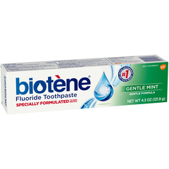 Biotene Dry Mouth Toothpaste Gel Gentle Mint - 4.3 OZ