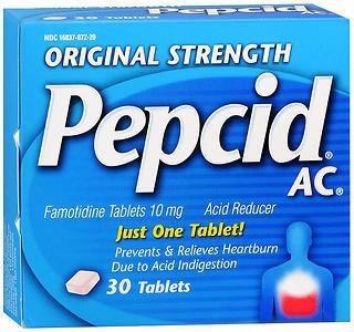 Pepcid AC Tablets Original Strength - 30 TAB
