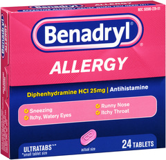 Benadryl Allergy Ultratab Tablets - 24 TAB