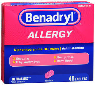 Benadryl Allergy Ultratab Tablets - 48 TAB