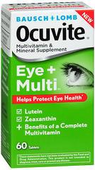 Bausch + Lomb Ocuvite Eye + Multivitamin & Mineral Supplement Tablets - 60 TAB