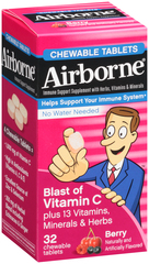 Airborne Chewable Tablets Berry - 32 TAB