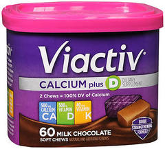 VIACTIV Calcium Plus D Soft Chews Milk Chocolate - 60 EA