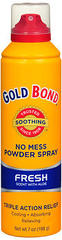 Gold Bond No Mess Powder Spray Fresh Scent with Aloe - 7 OZ