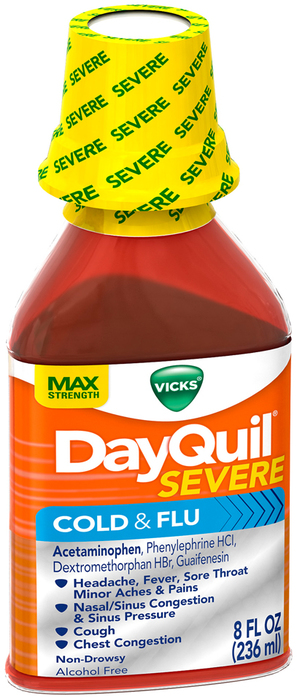 Vicks DayQuil Severe Cold & Flu Liquid - 8 OZ