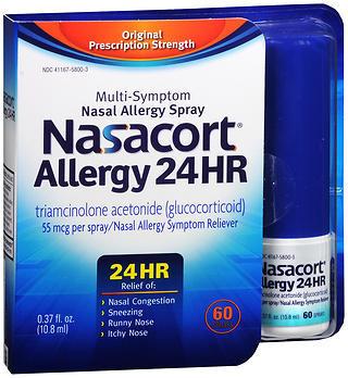Nasacort Allergy 24 Hr Multi-Symptom Nasal Allergy Spray - 0.37 OZ