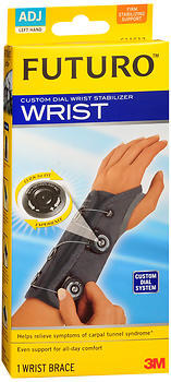 FUTURO Custom Dial Wrist Stabilizer Adjustable Left Hand 611612EN - 1 EA