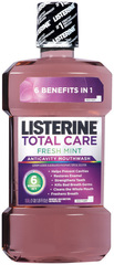 Listerine Total Care Anticavity Mouthwash Fresh Mint - 33.82 OZ