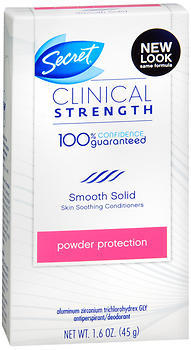 Secret Clinical Strength Antiperspirant/Deodorant Smooth Solid Powder Protection - 1.6 OZ
