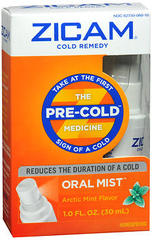 Zicam Cold Remedy Oral Mist Arctic Mint Flavor - 1 OZ