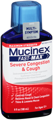 Mucinex Fast-Max Severe Congestion & Cough Liquid Maximum Strength - 6 OZ