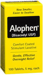 Alophen Stimulant Laxative Tablets - 100 TAB