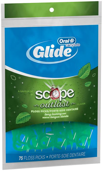 Oral-B Pro-Health Floss Picks + Scope Outlast Long Lasting Mint Flavor - 75 EA