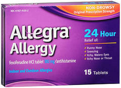 Allegra Allergy 180 mg Tablets 24 Hour - 15 TAB
