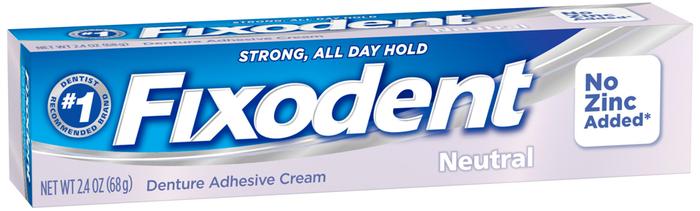 Fixodent Denture Adhesive Cream Neutral - 2.4 OZ