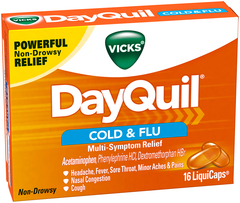 Vicks DayQuil Cold & Flu Multi-Symptom Relief LiquiCaps - 16 EA