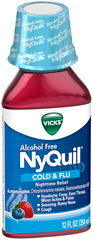Vicks NyQuil Cold & Flu Alcohol Free Berry Flavor - 12 OZ