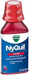 Vicks NyQuil Cough Liquid Cherry - 12 OZ