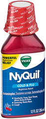 Vicks NyQuil Cold & Flu Liquid Cherry - 12 OZ