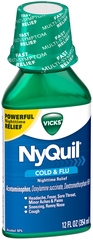 Vicks NyQuil Cold & Flu Liquid - 12 OZ