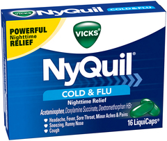 Vicks NyQuil Cold & Flu Nighttime Relief LiquiCaps - 16 CAP