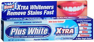 Plus White Whitening Toothpaste Xtra Whitening Cool Mint - 3.5 OZ