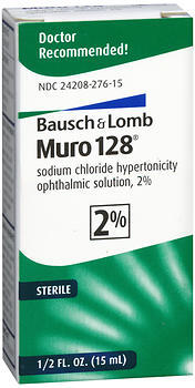 Bausch + Lomb Muro 128 Solution 2% - 0.5 OZ