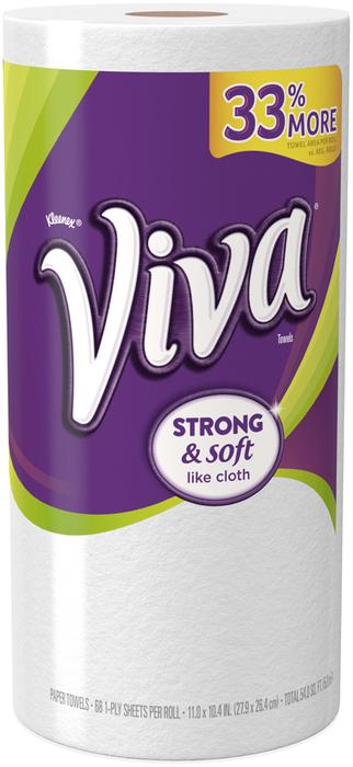 Kleenex Viva Paper Towel Roll White 68 EA [Case of 24]