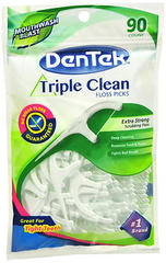 DenTek Triple Clean Floss Picks Mouthwash Blast - 90 EA