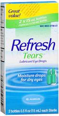 Refresh Tears Lubricant Eye Drops 2 Pack - 1 OZ