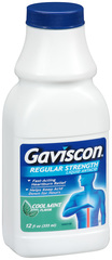Gaviscon Liquid Antacid Regular Strength Cool Mint Flavor - 12 OZ