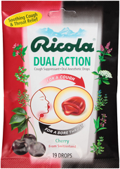 Ricola Dual Action Drops Cherry - 19 EA