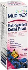 Mucinex Children's Multi-Symptom Cold & Fever Liquid Berry Blast Flavor - 4 OZ